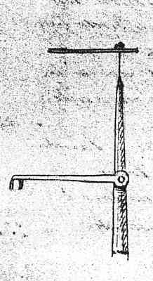 The horizontal link to the pendulum predating the 1858 movement.